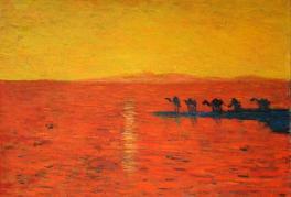 大漠的晨色