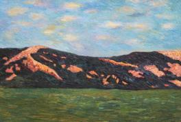 粉红色的山坡