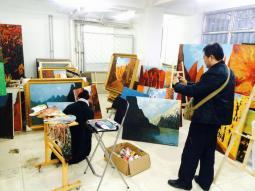 兰州市公证处主任李文朝和国信公证处刘燕宏参观牛浩东工作室