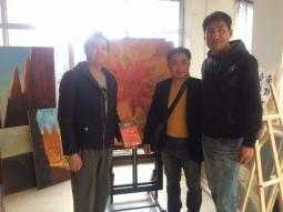 韩国客人到访牛浩东艺术工作室