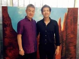 永和豆浆集团林炳生到访牛浩东艺术工作室