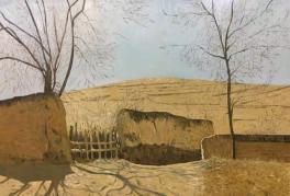 油画《村口》