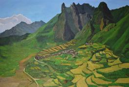 油画《梦在扎尕拉》